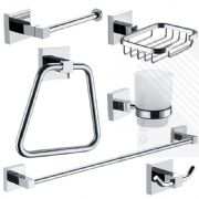 ECOSPA 6 Piece Bathroom Accessory Pack in Chrome